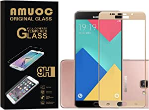 AMOUC 2 pack HD Ballistic Glass Screen ProtectorScreen Protector for Samsung Galaxy S6 金色
