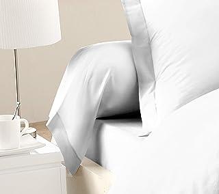 Home Passion 2 件套 枕套 颈部卷 85 x 185 厘米,57 根 * 棉 白色 185 x 85 x 厘米