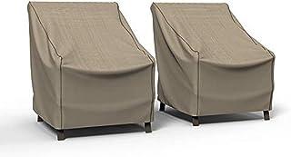 Budge P1A02PMNW2-2PK NeverWet Mojave 庭院椅套(2 件装)防水、防紫外线,耐用,黑象牙色