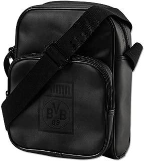 Puma Bvb Reporter袋,黑色网格黄色,UA