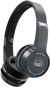 Monster 魔声 Clarity Wireless 灵晰 无线蓝牙耳机 头戴式音乐耳机 触控操作 手机耳机 天空灰