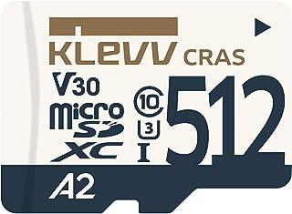 KLEVV microSDXC 512GB UHS-I U3 V30 A2 *大读取 100MB/s 4K对应 K512GUSD6U3-CA