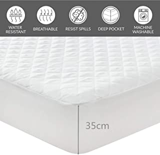 AYASW 防水床垫保护棉可重复使用 白色 Full Size/Fitted sheet