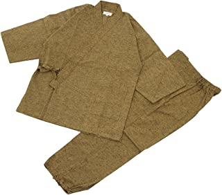 Edoten 男士日本制造和服Tumugi Samue