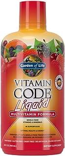 Garden of Life 生命花园 维生素密码 复合维生素 膳食补充剂 液体 生食 全食物 维生素补充剂 素食 无防腐剂 水果味 30 液体盎司 (约 887.2 毫升)