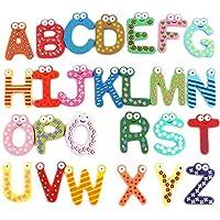 Ogrmar 木制冰箱磁贴 彩色数字字母 儿童学习玩具