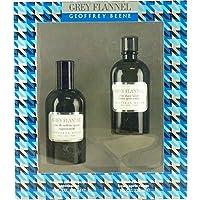 Geoffrey Beene 灰色法兰绒男士两件套礼品套装(113.4 克淡香水水和 113.4 克剃须后乳液)