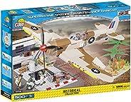 COBI 5546 Supermarine Spitfire - 维修车架建筑玩具米色/棕色/黄色/灰色