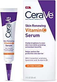 CeraVe 维生素 C 精华,含透明质酸 | 肌肤提亮精华 10% 纯维生素 C | 不含香料 | 1液体。 Oz