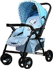 Snoopy 史努比 双向可躺时尚婴儿手推车HA3100系列水蓝