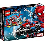 LEGO 乐高 拼插类玩具 蜘蛛侠摩托车救援任务 76113 6+岁 积木玩具(3月新品)