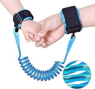Saygogo 防丟失腕扣,兒童戶外*鉤環帶彈性堅固靈活適合幼兒、嬰兒和兒童,1 包(長 1.5 米),藍色