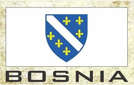 国旗冰箱冰箱冰箱磁铁 - 欧洲集团 2 国家:波斯尼亚