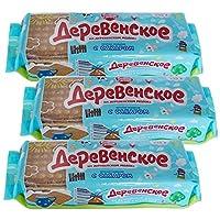 4袋 甜蜜农庄 俄罗斯进口 饼干 早餐饼干 休闲零食 (奶香饼干 235g/袋)