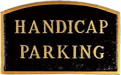 Montague Metal Products SP-15L-BG Handicap 停车足弓宣言牌,大号,黑色和金色