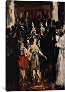 iCanvasART 8024-1PC3-12x8 Masked Ball at The Opera Canvas Print by Edouard Manet, 0.75 x 8 x 12-Inch