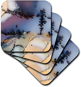 3dRose cst_92201_2 Nevada. Amethyst Sage Agate, Natural Pattern-Us29 Bja0049-Jaynes Gallery-Soft Coasters, Set of 8