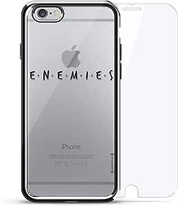 """镀铬系列 360 套装:设计师手机壳 + 钢化玻璃 适用于 iPhone 6/6s PlusLUX-I6PLCRM360-ENEMIES1""""Enemies"""" Title Card 银色"""