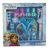 Townley Girl Disney 冰雪奇缘 My Beauty Spa 套装,*油,缓冲,文件,凉鞋(Girls 10-11)和脚趾分离器