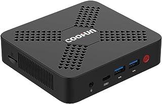 迷你台式电脑 Intel Celeron 处理器 N4100 DDR4 8GB/128GB SSD(高达 2.40 GHz)四核迷你电脑 Windows 10 HDMI 2.0a/USB-C端口(4K@60Hz)5xUSB 端口 2.4G+5G 双 WiFi BT5.0,自动开机