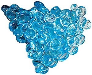 Biedermann Decorative Glass Gems, 1-Pound Bag, Ice Blue