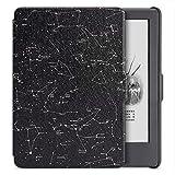 柏图 适配全新Kindle电子书阅读器 保护套 皮套 保护壳(即558元版Kindle)2016年上市第八代Kindle电子书阅读器 文艺清新 可爱 彩绘可休眠(内附贴膜套装) 黑色机壳版 K8-09 星座