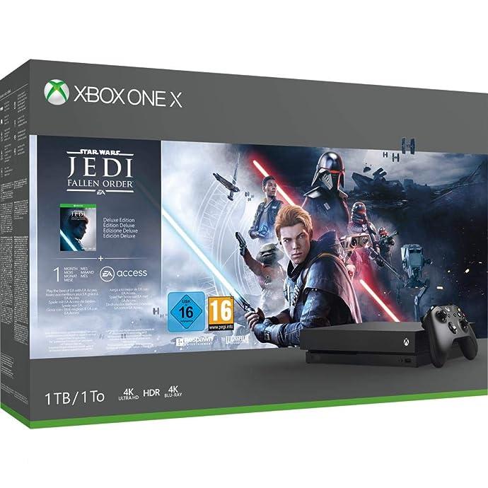 Microsoft 微软 Xbox One X 1TB 游戏主机 《星球大战绝地:陨落的武士团》同捆版 ¥2338