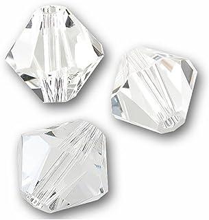 Swarovski 施华洛世奇双锥体水晶珠耳环手链项链脚链吊坠钥匙扣拉链瑜伽珠宝制作用品配件 水晶透明 8mm