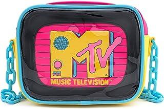 Loungefly x MTV 2件套 透明 PVC 斜挎包 带内袋