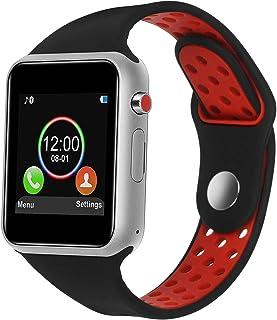 SUNETLINK 智能手表,触摸屏蓝牙智能手表,运动智能健身追踪器带摄像头的腕表,防汗智能手表带 SIM TF 卡插槽,兼容三星 LG iOS 男士女士儿童