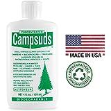 Sierra Dawn Campsuds 户外肥皂可生物降解环保*通用清洁剂,露营徒步旅行露营露营,多用途用于餐具淋浴洗手液 8-Ounce (6 Bottles)