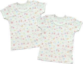 Baby Story 2件装 全花纹印刷 半袖圆领衬衫 KT15134 日本制造 粉色 80