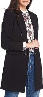 1.STATE 女式褶饰双排扣防尘外套