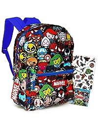 Marvel 可爱复仇者背包 - 40.64 厘米漫威学校背包男孩女孩儿童青少年成人捆绑贴纸(Marvel 学校用品)