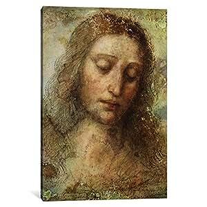 iCanvasART 15406-1PC3-12x8 Head of Christ, 1495 Canvas Print by Leonardo da Vinci, 0.75 by 8 by 12-Inch