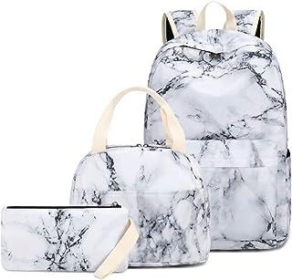 女孩背包 学生书包 儿童背包 套装 背包 帆布背包 带午餐袋和铅笔盒