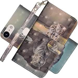 EMAXELER 谷歌 Pixel 3 XL 3D 全时尚浮雕手机壳 3D: Cat Tiger
