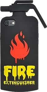 PLATA iPhone iPhone 5 5s SE 用 有趣 壳IP7-4070BK iPhone7/iPhone8 灭火器【黑色】