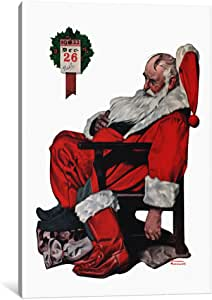 iCanvasART NRL158-1PC3 The Day After Christmas Canvas Print by Norman Rockwell, 0.75 by 8 by 12-Inch