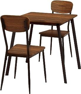 萩原 餐桌套装 棕色 3点セット LDS-4912BR