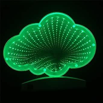 隧道灯 双面 Infinity 灯 LED 灯 3D 无限镜子夜灯感官派对装饰圣诞节、生日派对、儿童房、客厅 Sm Cloud Tunnel Light