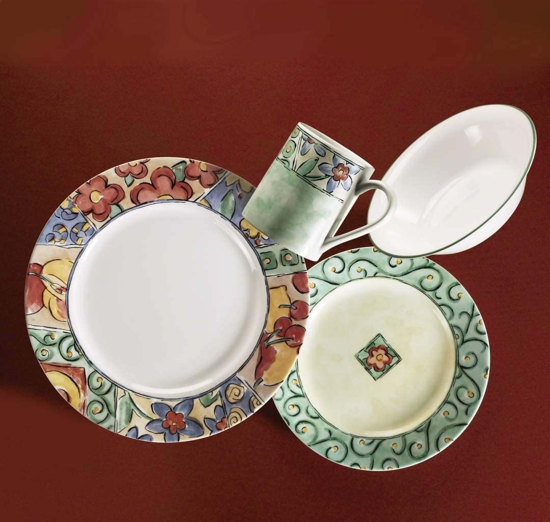 1088604 PA Corelle Impressions 16-Piece Dinnerware Set World Kitchen