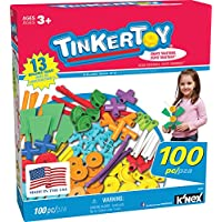 TINKERTOY - 100 件必备超值套装 - 适合 3 岁以上学前教育玩具