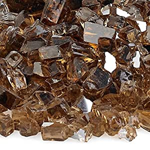 American Fireglass 10 磅反光玻璃 壁炉玻璃火炉玻璃火焰坑玻璃 1/4 Inch x 10 Pounds FBA_AFF-COPRF-10