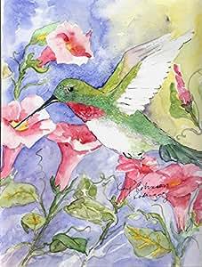 Bird - Broadtail Hummingbird Flag 多色 小号