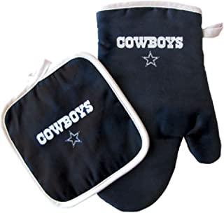 Pro Specialties Group 达拉斯牛仔队 NFL 烤箱手套和锅架套装