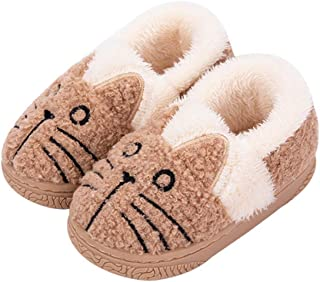JadeRich 男女通用猫图案毛绒保暖家居靴拖鞋