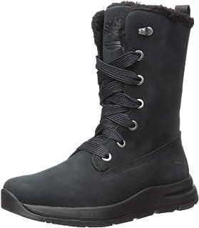 Timberland 女士 Mabel Town 防水中筒系带雪地靴