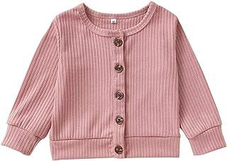 新生儿 Infrant 女宝宝男孩服装 长袖系扣棉针织毛衣开衫外套 秋冬套装