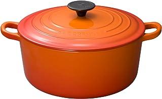 Le Creuset 酷彩 搪瓷铸铁锅 炖锅 24厘米 橙色 可使用燃气IH烤箱
